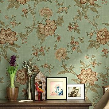 Lianle Papier Peint Murale Retro Fleurs Papier Pour Decoration De