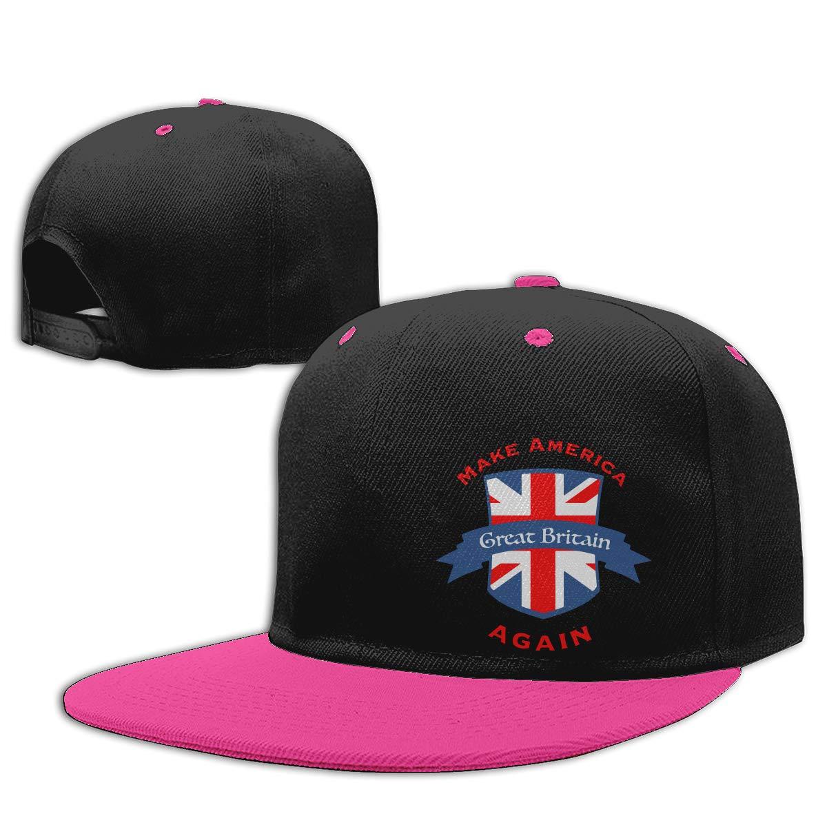 FGGfgg Make America Great Britain Again Pattern Print Adjustable Hip Hop Baseball Cap Visor Adult Baseball Cap