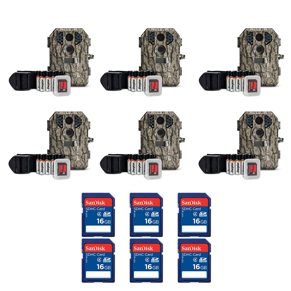 Stealth Cam 7MP IR Game Camera (6 Pack) & SanDisk 16GB SD Memory Card (6 Pack) by Stealth Cam