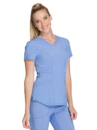 eb401d07ba5 Amazon.com: Cherokee Infinity Women's V-Neck Solid Scrub Top: Clothing