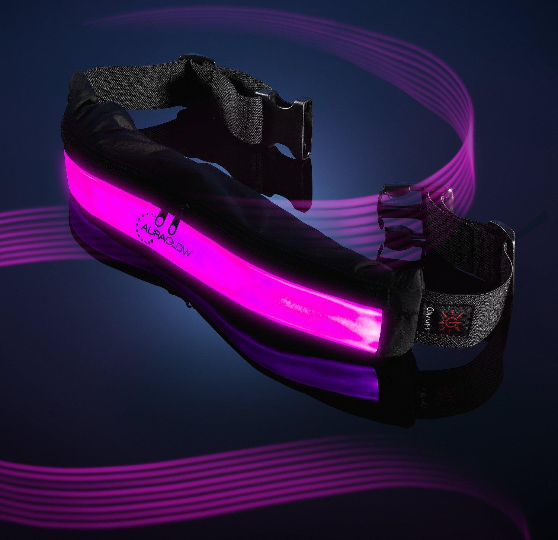 Auraglow Super Lumineux Haute Visibilité LED Réfléchissant Réfléchissant  USB Courant Ceinture de Sécurité avec Poches  Amazon.fr  High-tech ed0ca0763a8