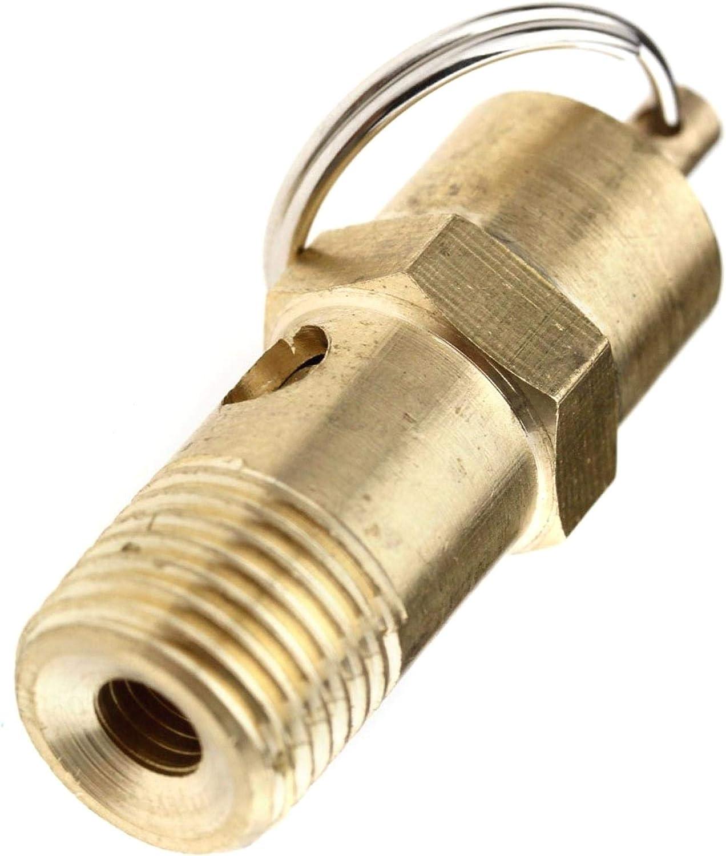 145PSI 10BAR DULALA Schalter /Überdruckventil 1//4BSP Messing Kompressor Druck Sicherheitsschalter