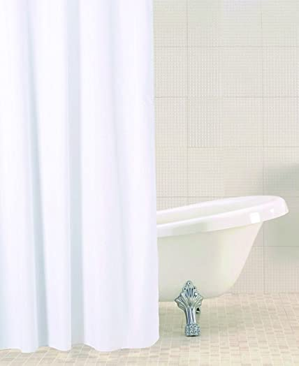 Attractive Sabichi Solid Shower Curtain, White