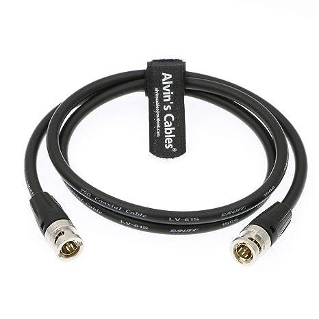 Alvins Cables Neutrik BNC Macho a Macho 12G HD SDI Cable coaxial de Video Original para