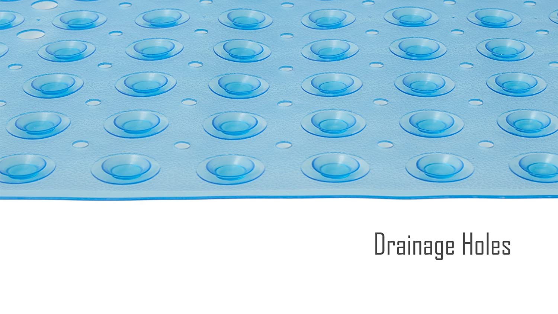 Clear Technology /& Powerful Suction Cups 21 x 21 FeschDesign Shower Mat Non Slip TM BPA-Free /& Anti-Bacterial Non-Toxic Bath Tub Mat with Original GripTight