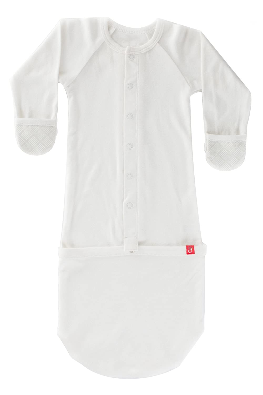 Goumikids Goumijamms Organic Smart Baby Gown, With No Scratch Mitts and Foot Pockets With Easy Diaper Change 706