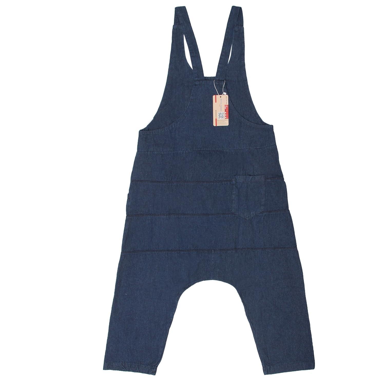Sidiou Group Pantalons bretelles pour femmes Souliers de denim Romper Harem Pantalons Combinaison
