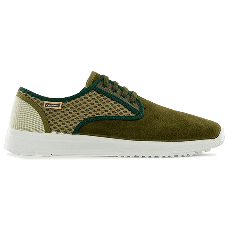 TALLA 43 EU. Maians. Zapatos de Cordones Retro para Hombre. Fabricado Artesanal Ante y Algodon. Made in Spain. Sneaker