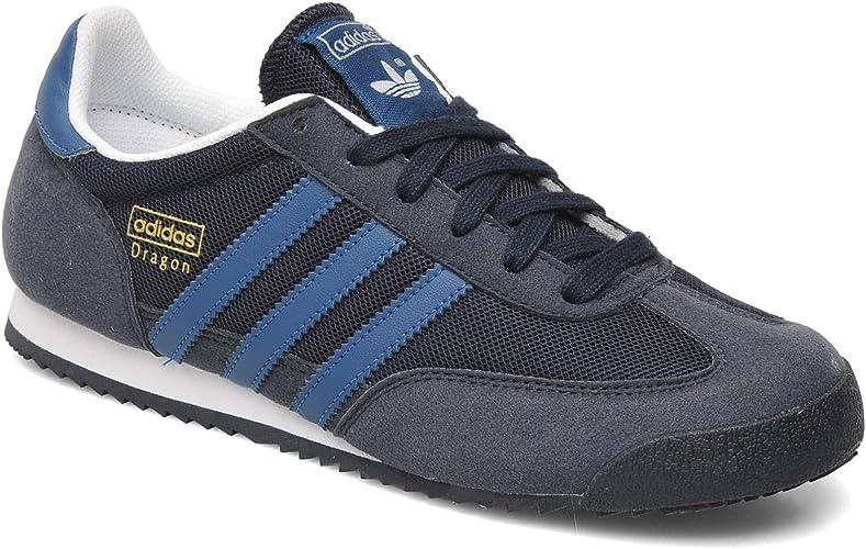 Adidas Dragon J Navy Kids Trainers Size 5 UK: Amazon.co.uk: Shoes ...