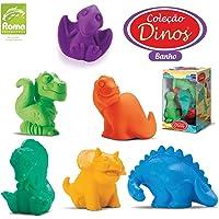 Brinquedo para Bebe Coleção Dinos Banho Caixa com 06 Roma 8.5cm