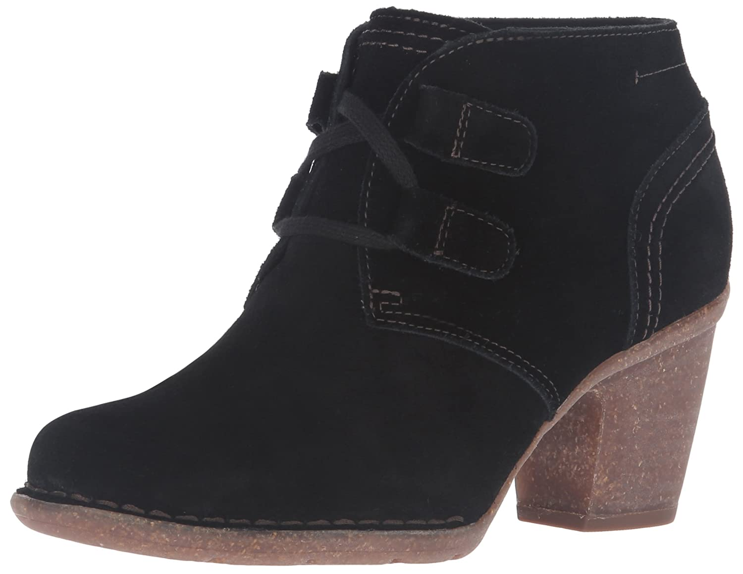 CLARKS Women's Carleta Lyon Boot B0195SP8FO 9.5 B(M) US|Black Suede