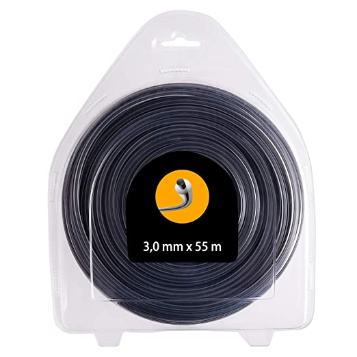 FEPITO Hilo para desbrozadora - Redondo - 3,0mm - 55m - Doble Hilo ...