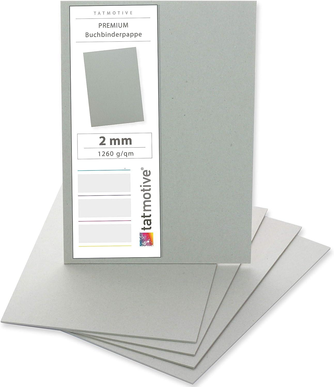 Buchbinder-Pappe-//Graupappe-2,0 mm für DIN A3 10 Stück