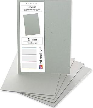 Buchdeckel 2,5 mm für DIN A5 10 Stück Buchbinderpappe
