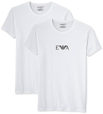 efca883c8ef62 Emporio Armani Knit Brief B - T-Shirt lot de 2 - Uni - Homme  Amazon.fr   Vêtements et accessoires