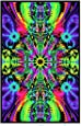 Wormhole Blacklight Poster Print 24 x 36in with Poster Hanger