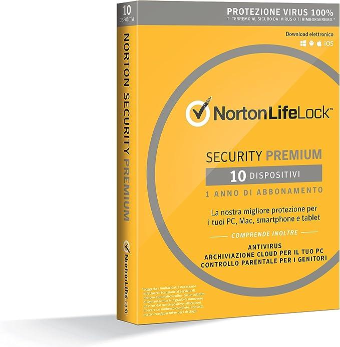 Symantec Norton Security Premium 3.0 Full license 1usuario(s) 1año(s) Italiano - Seguridad y antivirus (Caja, Full license, 1 año(s), Android, iOS, ...