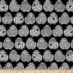 Kanvas Wool Ewe Be Mine Sheepish Grin Black/White Fabric By The Yard