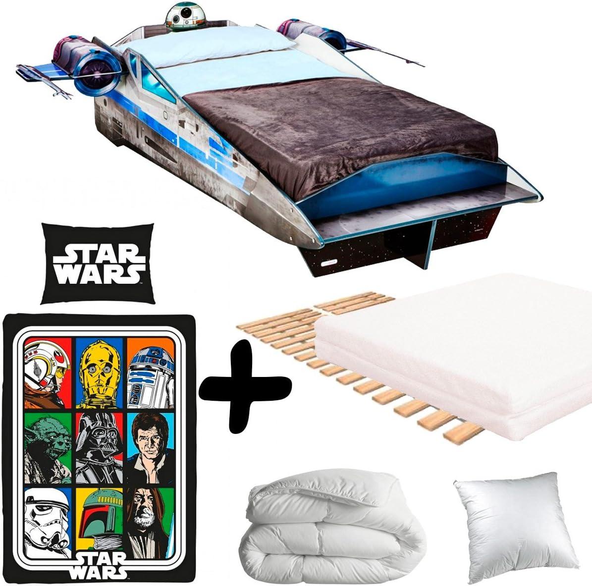 BEBEGAVROCHE Pack Completo Premium Gran Cama Nave Star Wars ...