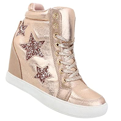 Damen Schuhe Freizeitschuhe Keil Wedges Sneakers  Amazon.de  Schuhe ... 89bfb92314