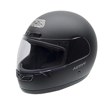 NZI Activy Casco de Moto, Negro Mate, 57 (M)