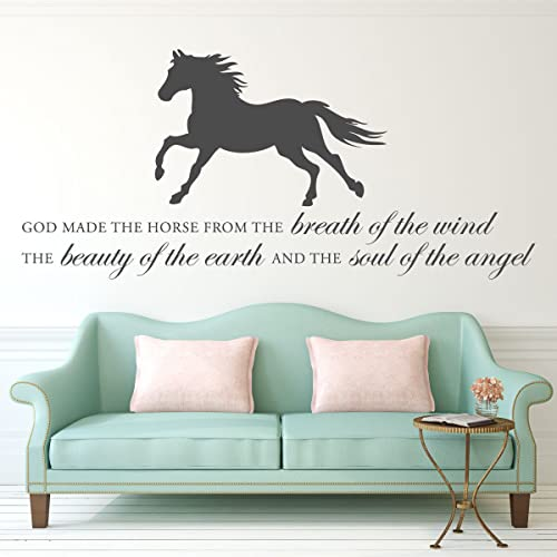 Amazoncom Horse Vinyl Wall Decal God Made The Horse With - How to make vinyl wall decals with silhouette