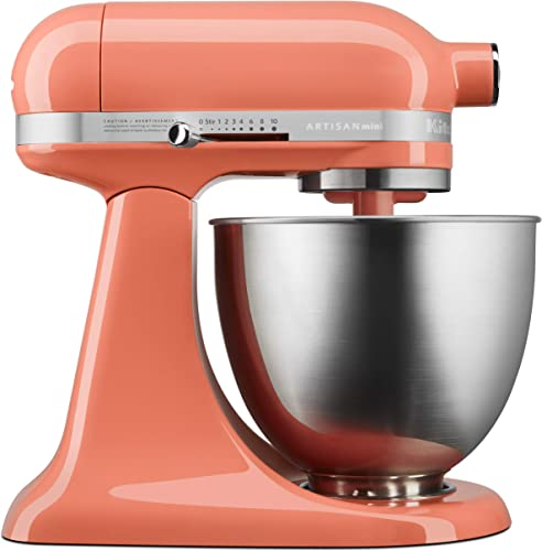 KitchenAid KSM3311XPH Artisan Mini Design Series 3.5 Quart Tilt-Head Stand Mixer, Bird of Paradise
