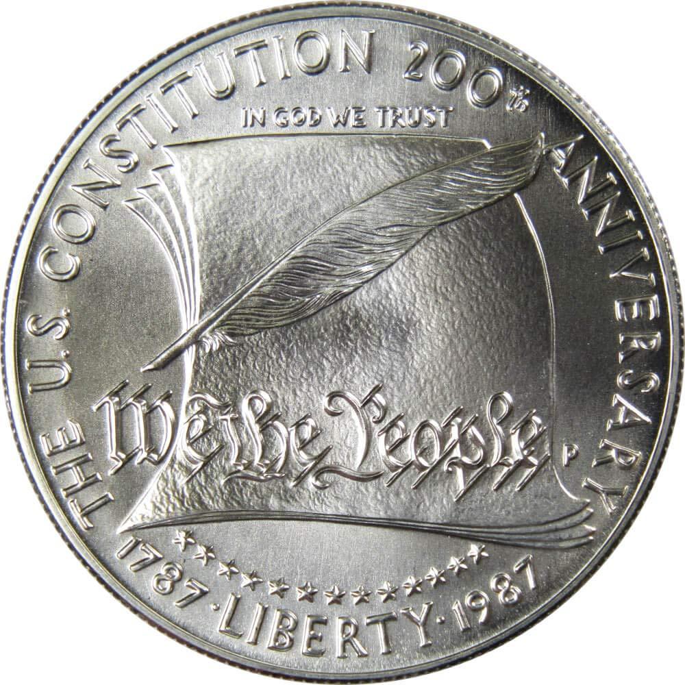 1987-S BU U.S Mint Constitution Silver Dollar Commemorative UNC Coin /& Capsule