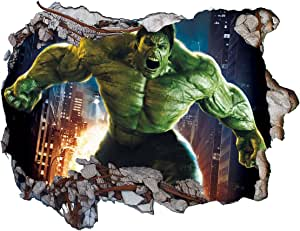 Thor Spiderman Marvel 3D Wall Sticker crack in the Wall Hulk Ron Man Captain