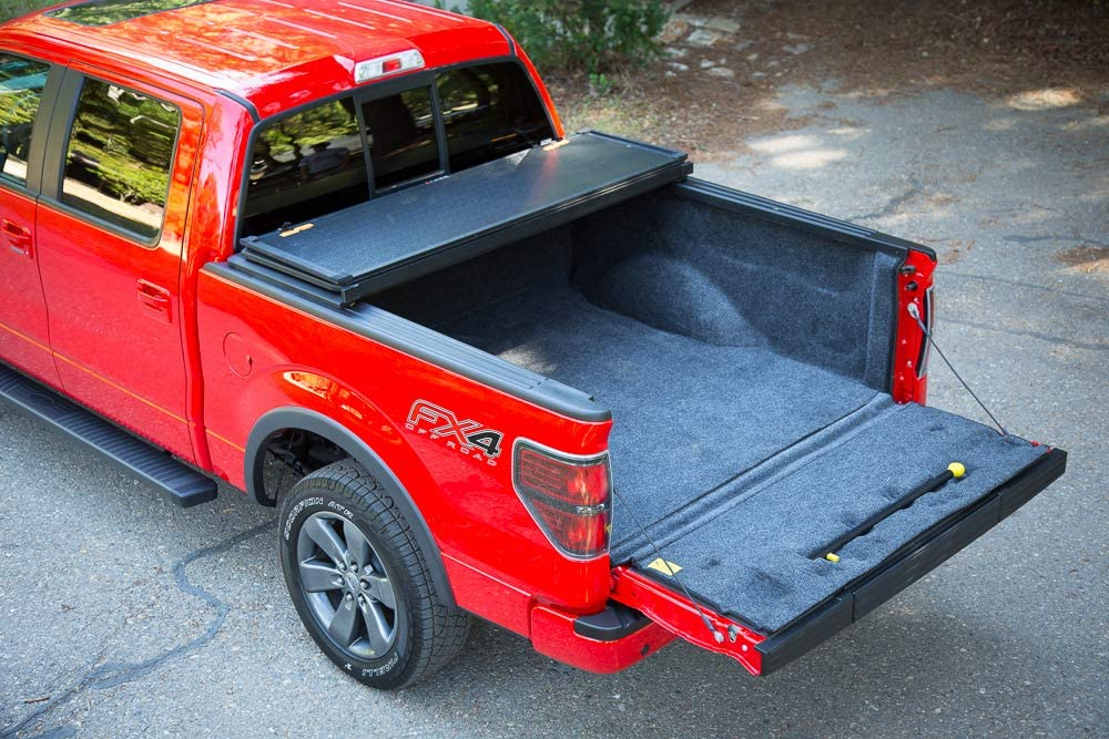 Amazon Com Leer Trilogy Hard Trifold Truck Bed Tonneau Cover 2004 2012 Chevy Gmc Colorado Canyon 6 Bed Automotive