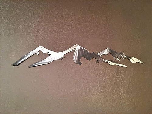 Longs Peak Colorado 14er Hiking Climbing Metal Wall Artwork Fourteener Peaks Outline Handmade Art