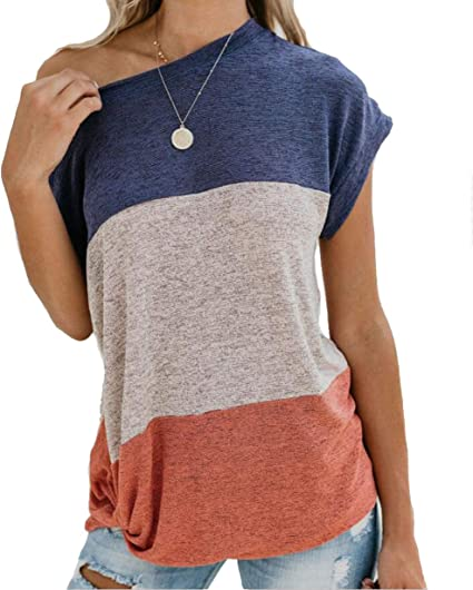 Giulot Women V Neck Short Sleeve T Shirts Solid Knit Blouse Tops Comfy Casual Summer Tee Shirt Perfect for Jeans Shorts