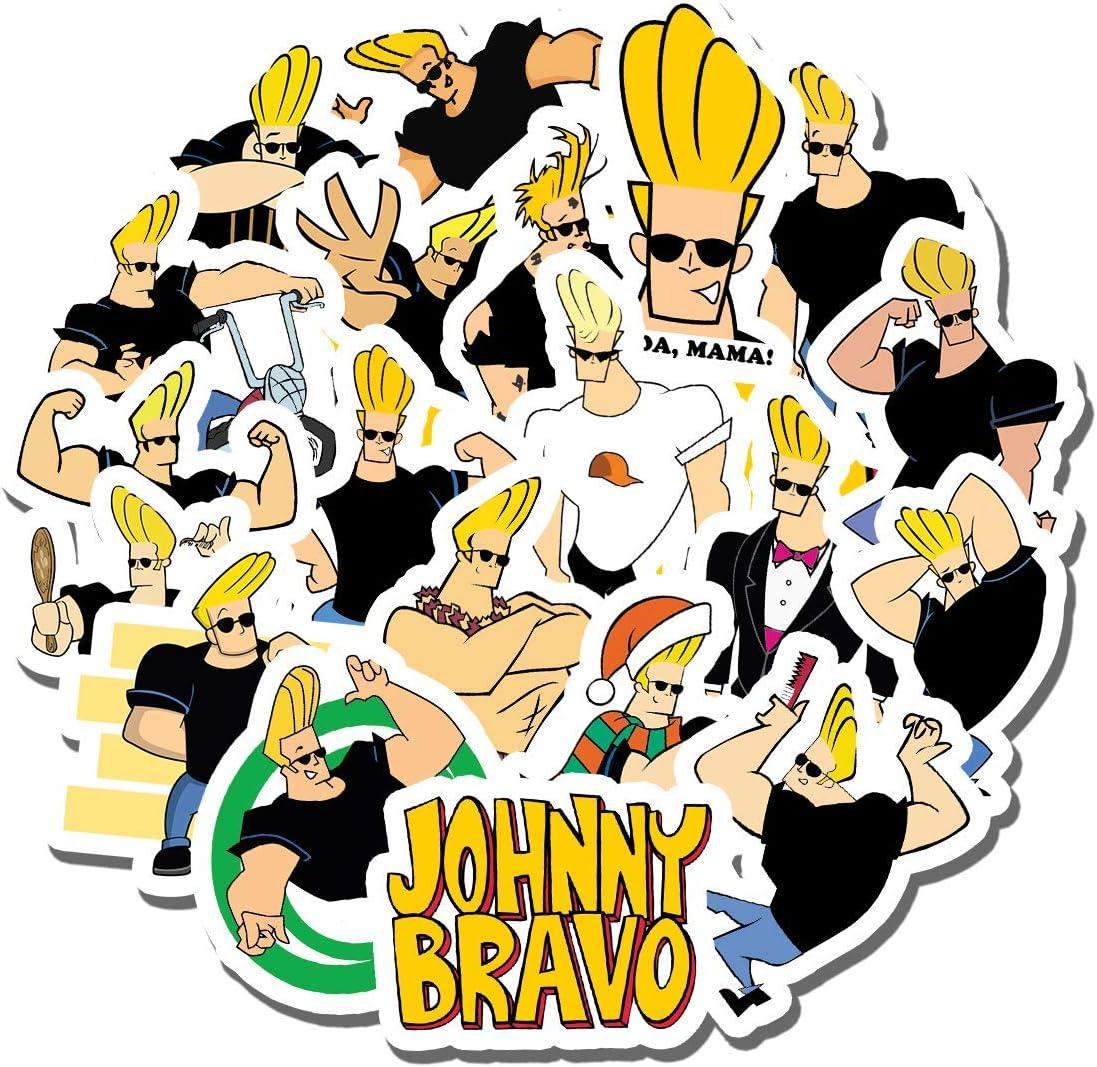 20 PCS Stickers Pack Johnny Aesthetic Bravo Vinyl Colorful Waterproof for Water Bottle Laptop Bumper Car Bike Luggage Guitar Skateboard