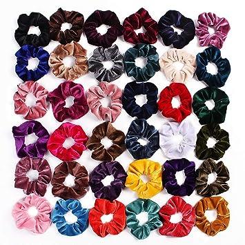 1PC Women Velvet Hair Ring Ponytail Holder Rubber Band Hair Accessories Colorful