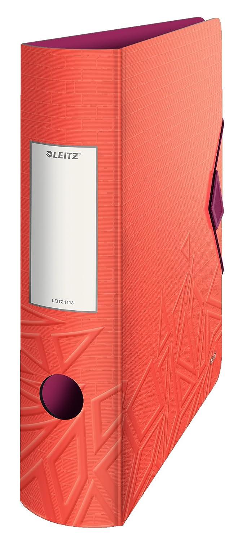 Leitz 11160024 Raccoglitore a Leva da 180°, 7,5 cm, Rosso