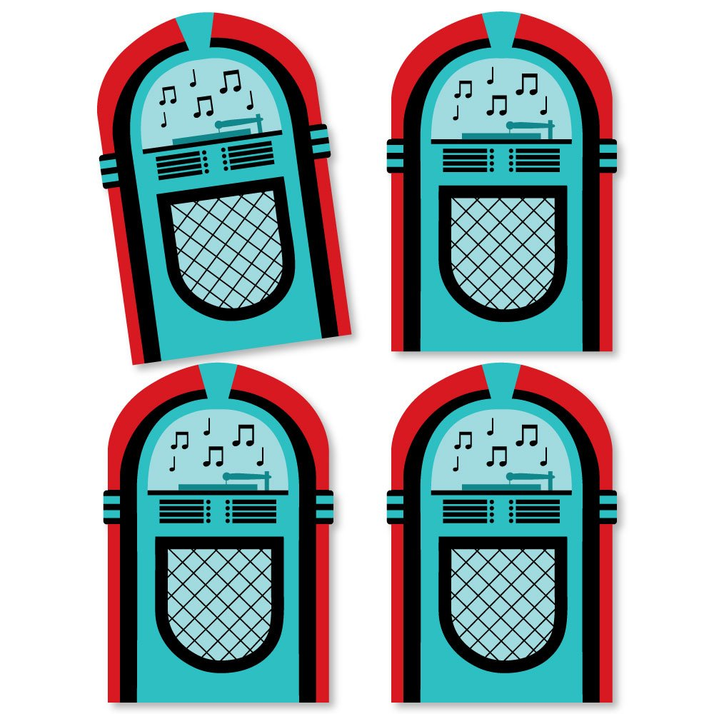 Amazon Com 50 S Sock Hop Jukebox Decorations Diy 1950s Rock N