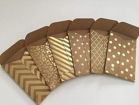 Amazon Com Kraft Envelopes Set Of 12 Mini Envelopes Gift Card