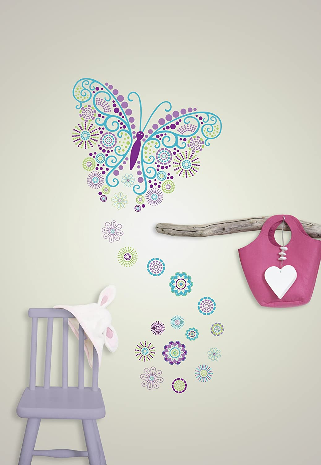 Wall Pops WPK0626 Social Butterfly Wall Decals   Decorative Wall Appliques    Amazon.com