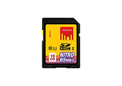 Strontium Nitro UHS-I 16GB SD Memory Card (SRP16GSDU1) SecureDigital Cards at amazon