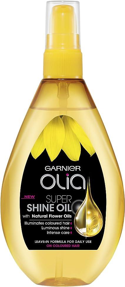 Aceite de cabello Garnier Olia Super Shine para después del tinte, 150 ml