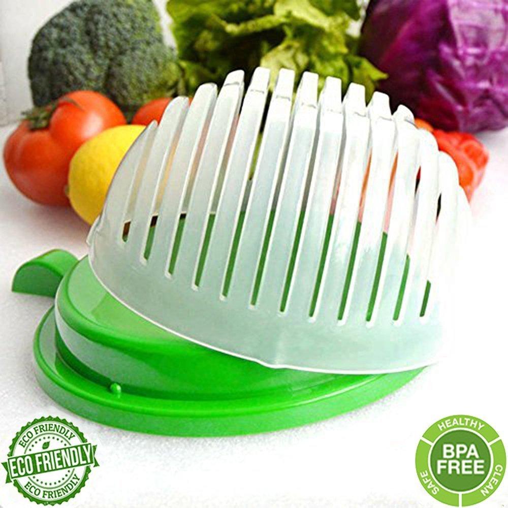 Salad Cutter Bowl, Salad Maker, Salad Bowl, Vegetable Salad Chopper, Salad Server-Make Your Salad in 60 Seconds by Unihoh