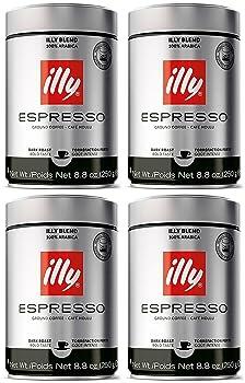 Illy Ground Espresso Dark Roast Coffee