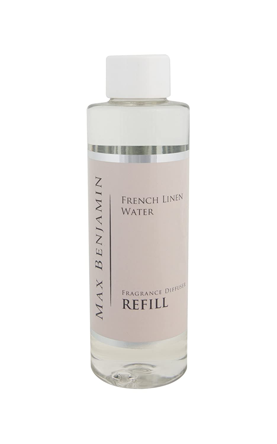 Max Benjamin - Ricarica per profumatore per Ambienti, fragranza: French Linen Water MB-DR9 MB-DR9_Clear Bottle-150ml