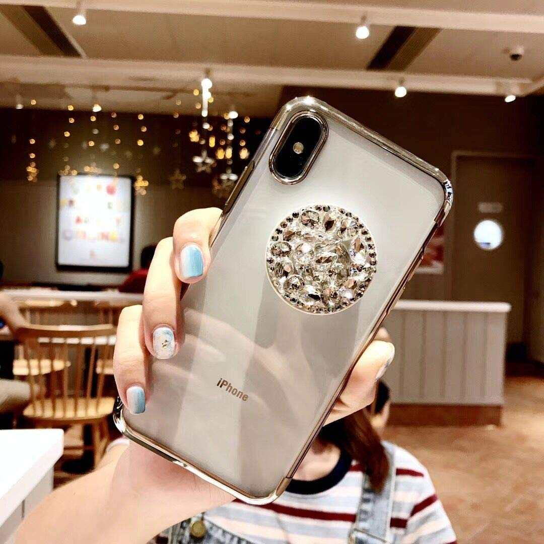 Casing iPhone Xs Max Cover Case iPhone Xs Max Case iPhone Xs Max Phone Cases iPhone Xs Max Dirtproof Protective 6.5 iPhone Xs Max Case Quality iPhone Xs Max Case Skull iPhone (Silver, iPhone 7P 8P) by QQYL