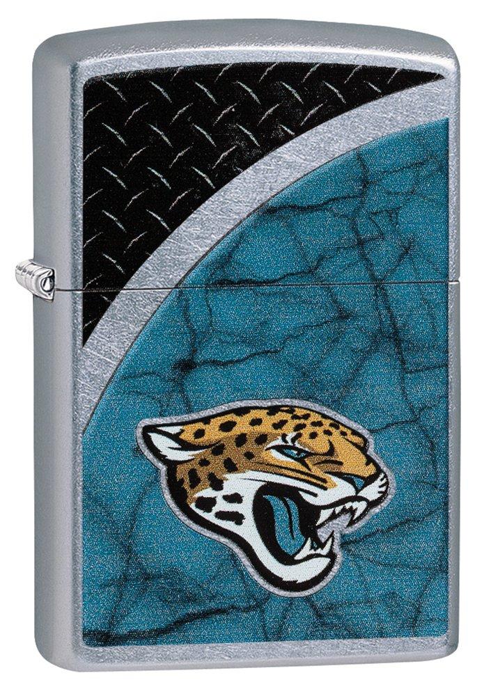 Zippo NFL Jacksonville Jaguars Street Chrome Pocket Lighter by Zippo