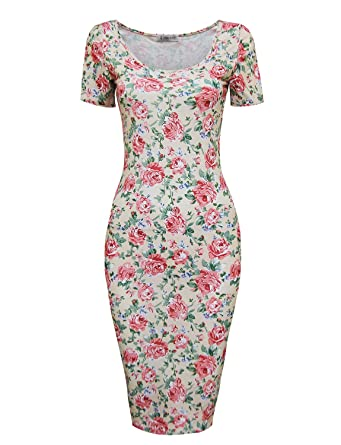 Tom&39s Ware Women&39s Sweetheart Short Sleeve Midi Dress at Amazon ...