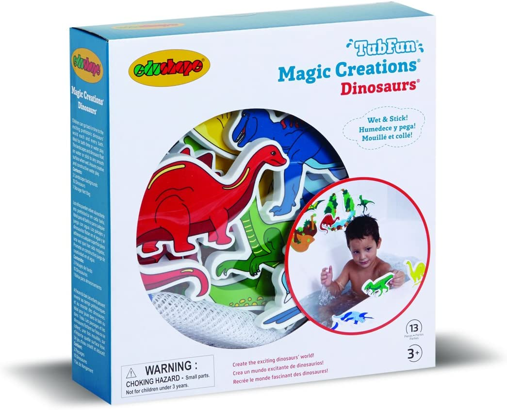 Dinosaurs Color Splash Foam Shapes with Adhesive