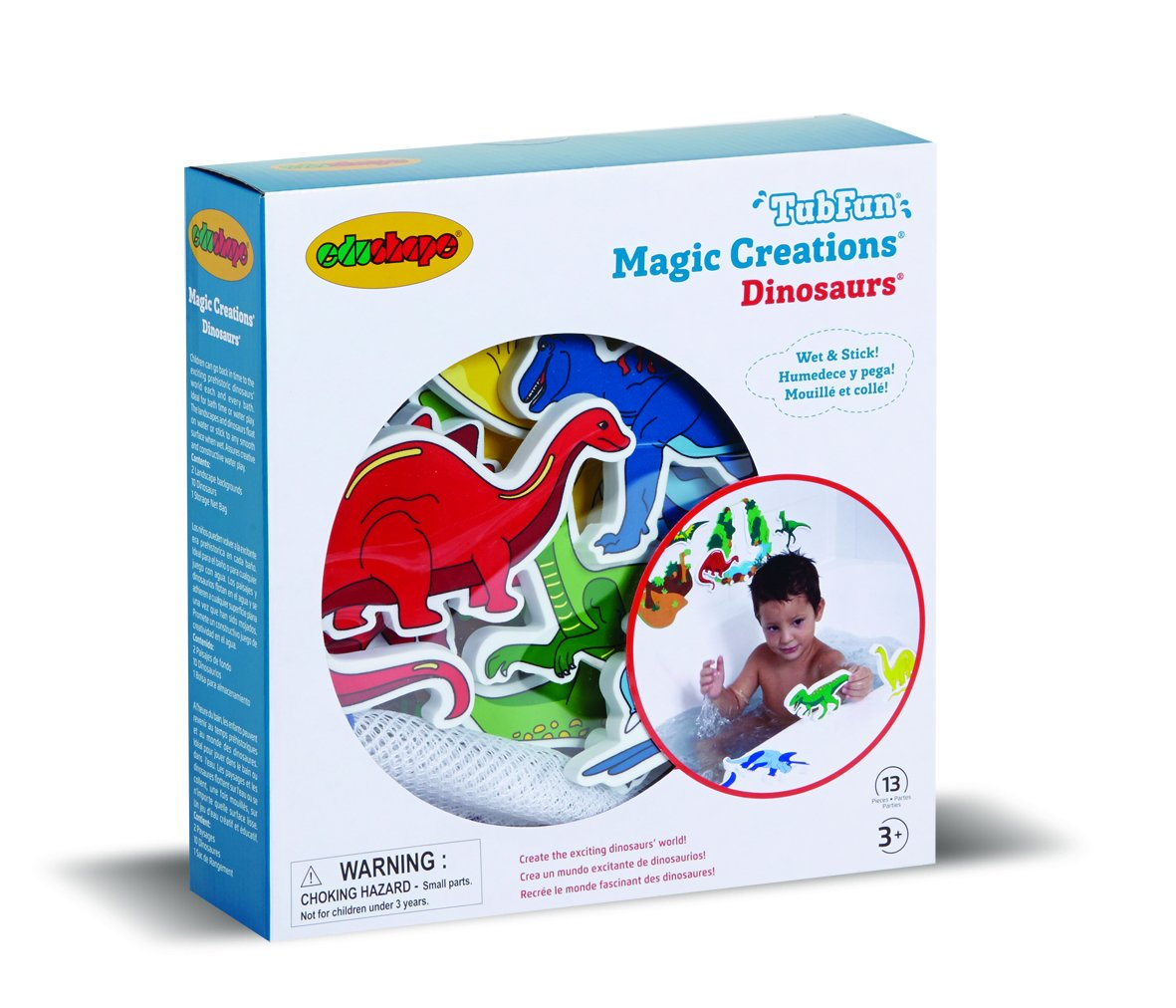 Edushape Magic Creations Dinosaurs Bath Toy Halilit 547009 Creative Foam