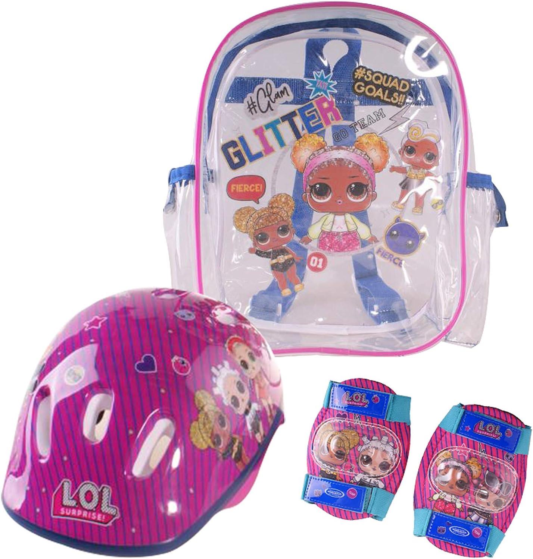 LOL SURPRISE Mochila+Casco+Protecciones (OLOL004), Infantil, Multicolor, niño