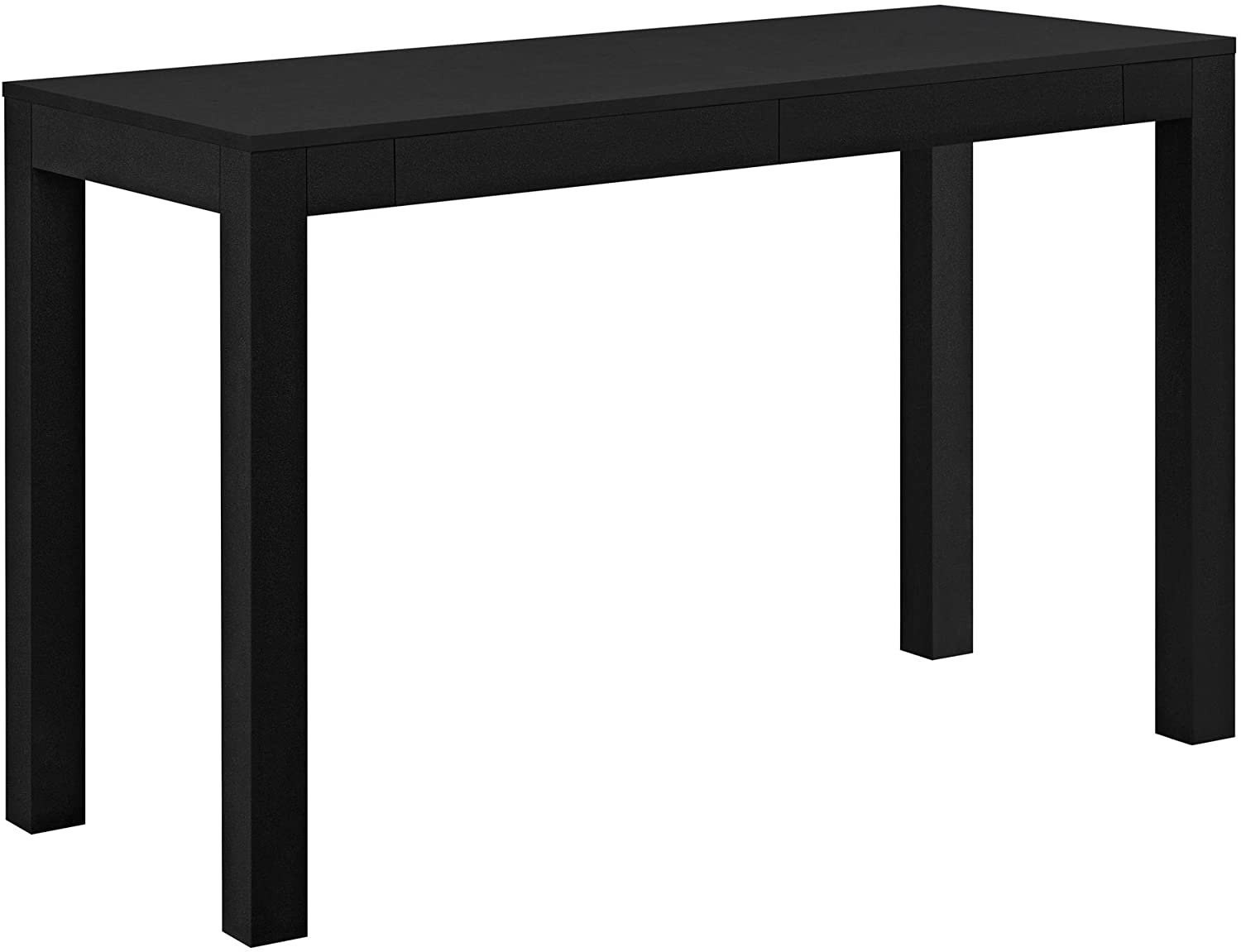 Ameriwood Home Parsons Xl Desk with 2 Drawers, Black